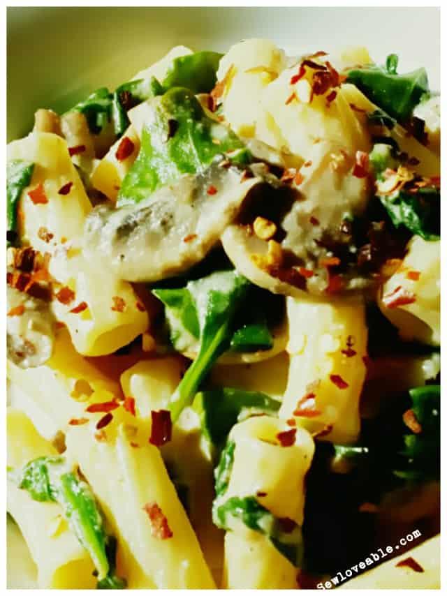 Spinach & Mushroom Alfredo