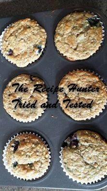 TRH Es's Blueberry Steel Cut Oat Muffins