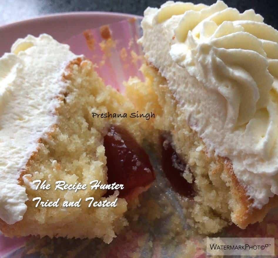 TRH Preshana's Fairy cakes with strawberry jam and fresh cream2