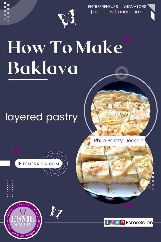Baklava Philo pastry dessert