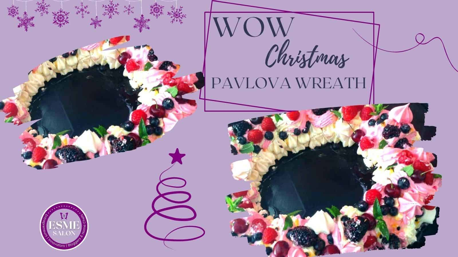 Gorgeous and delicious Christmas Pavlova