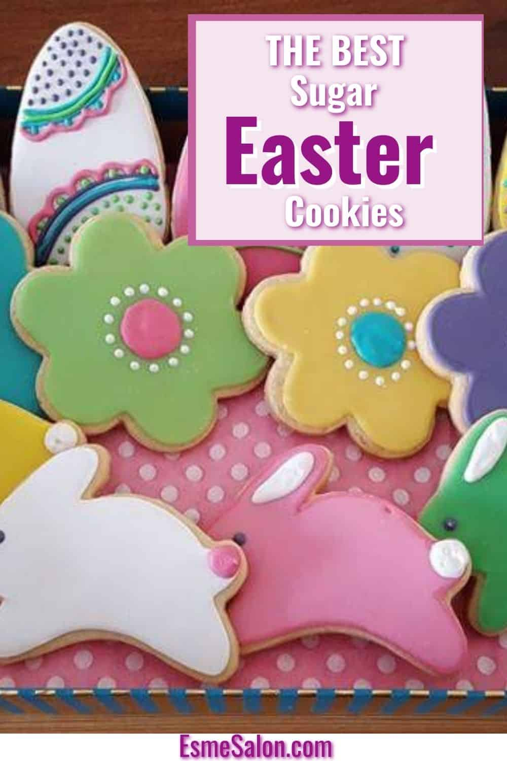 Easter bunny and flower Sugar Cookies with royal icing