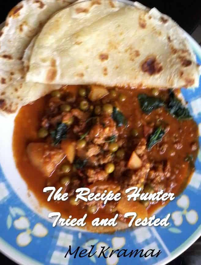 Melanie's Basic Roti with Mince Curry