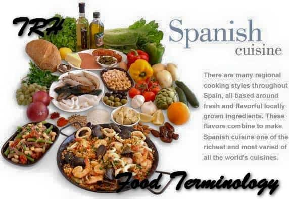 Nazley's Spanish Food Terminology List