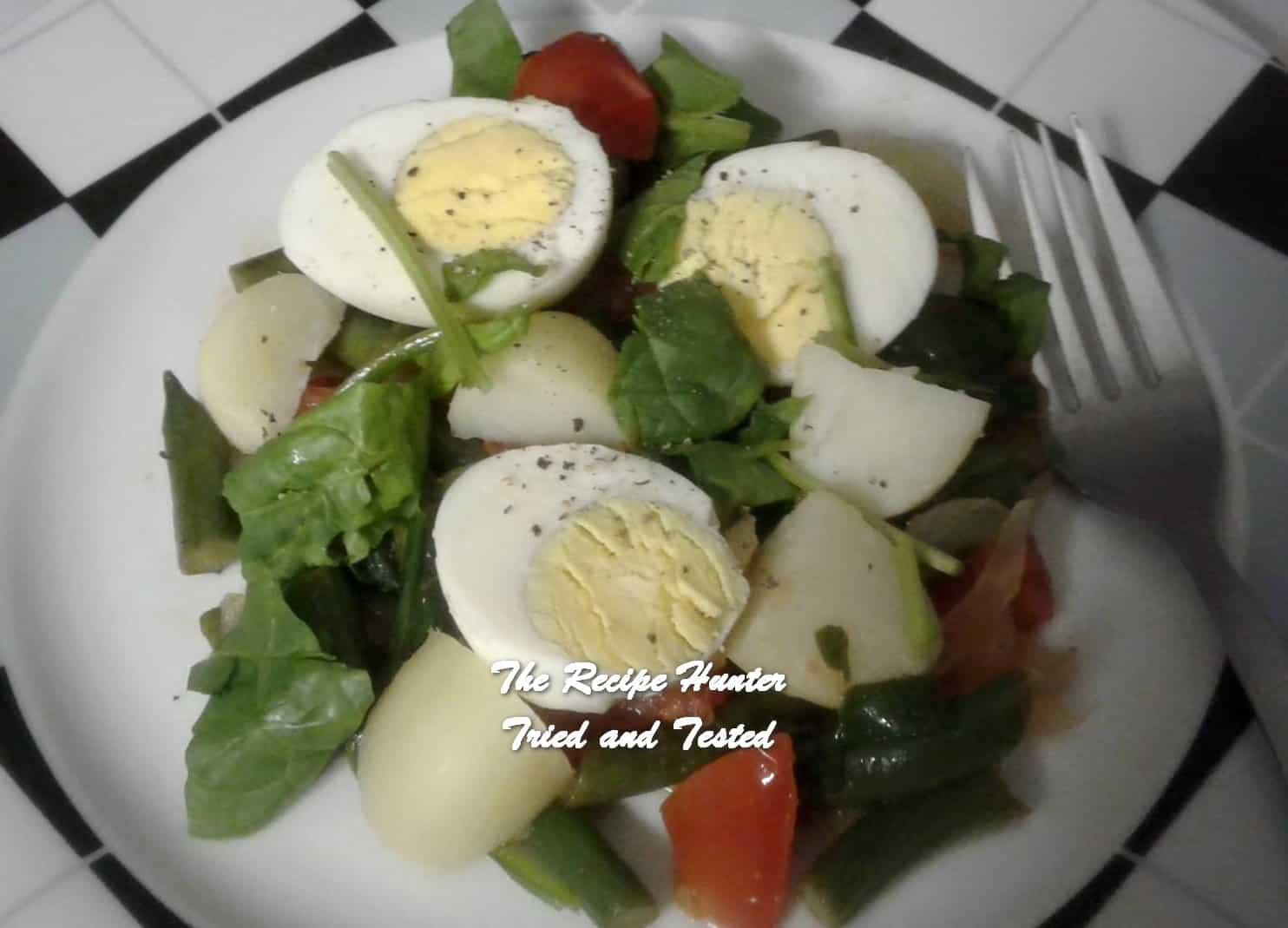 Nazley's Warm Egg Salad for supper