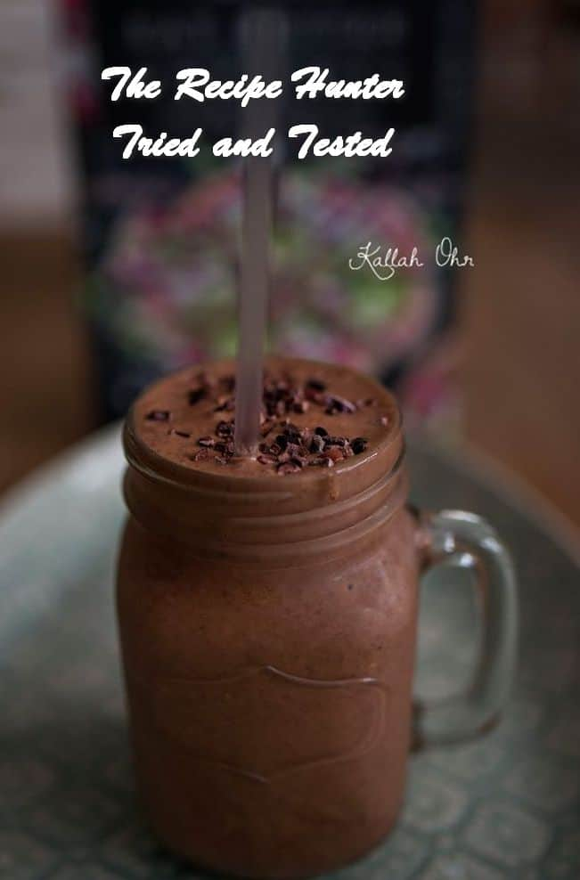 Carla's Vegan Health Breakfast Choc smoothy