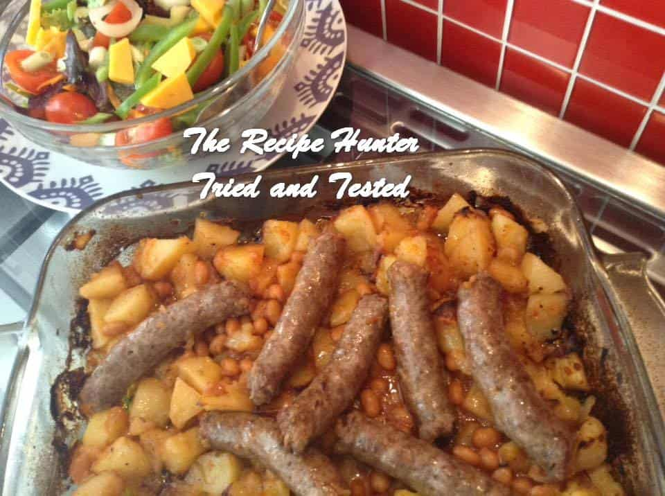 Gail's Sausage, Potato and Bean Bake