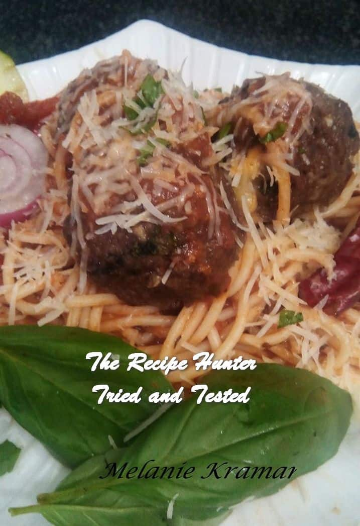 Melanie's Spicy Meatballs with Spaghetti in Marinara Sauce