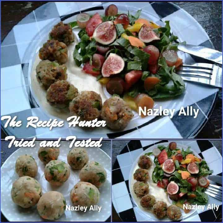 Nazley's Light Mini Meatballs served with a fresh Salad