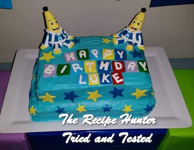 TRH Banana's in Pyjama's cake