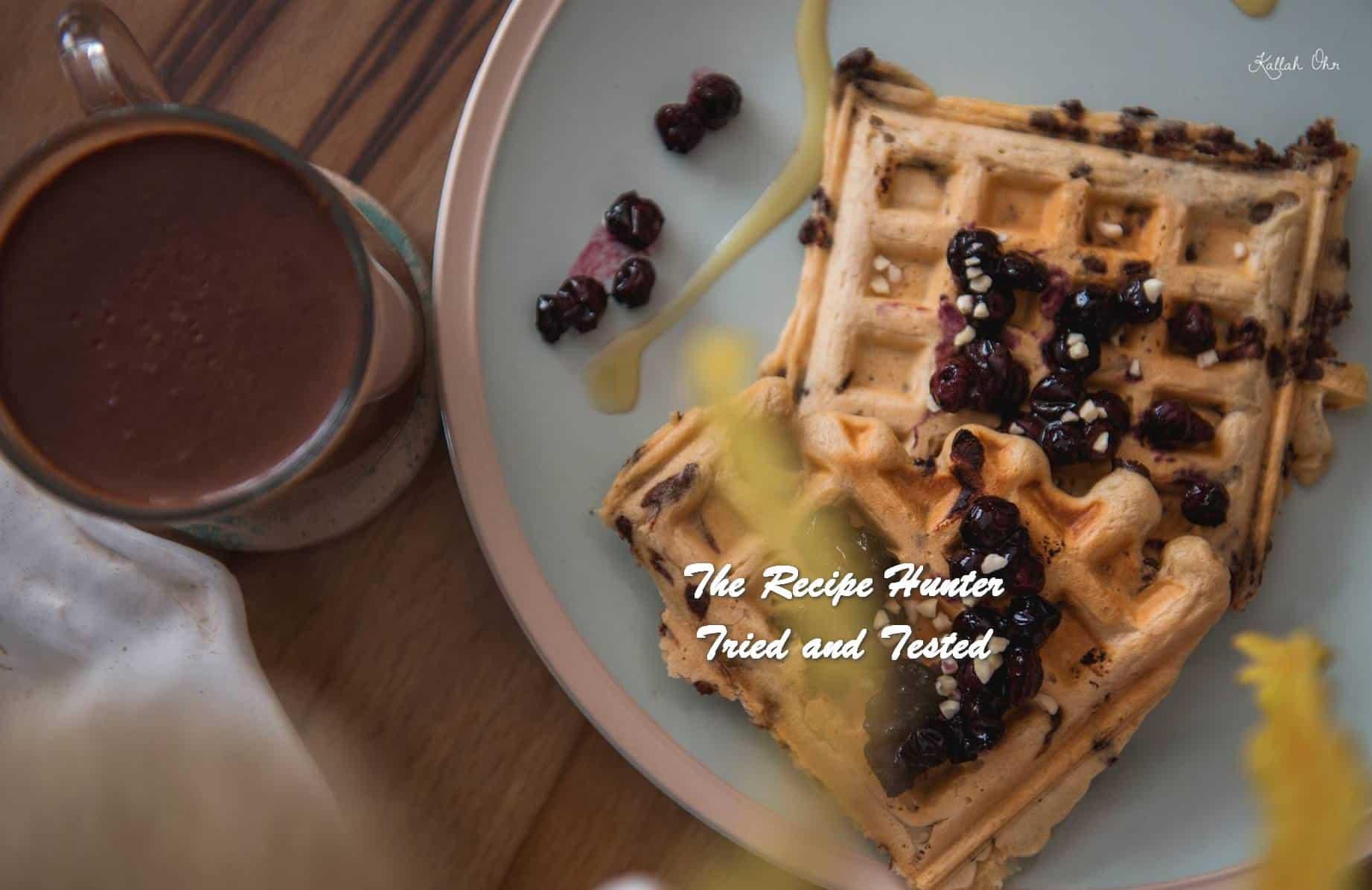 Carla's Choc Chip Blueberry Vegan Waffles