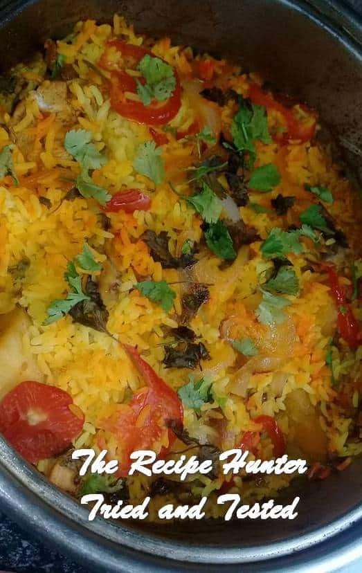 TRH Farah's Kashmiri Malay chicken breyani