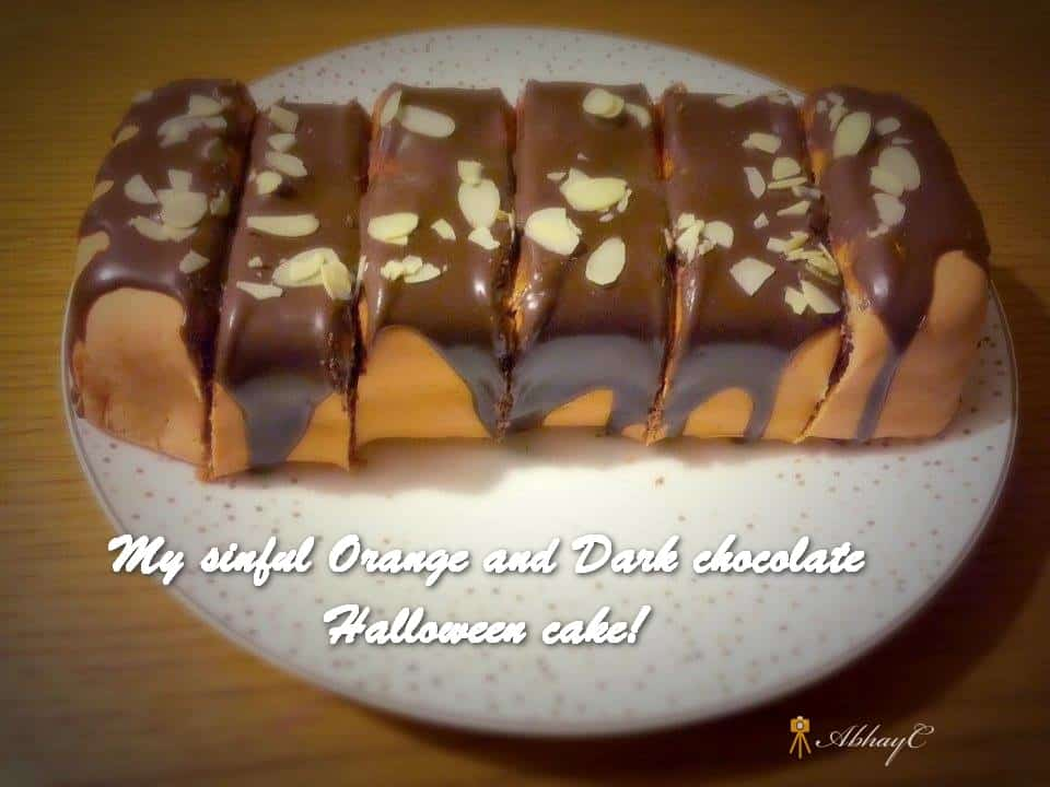TRH My sinful Orange and Dark chocolate Halloween cake!