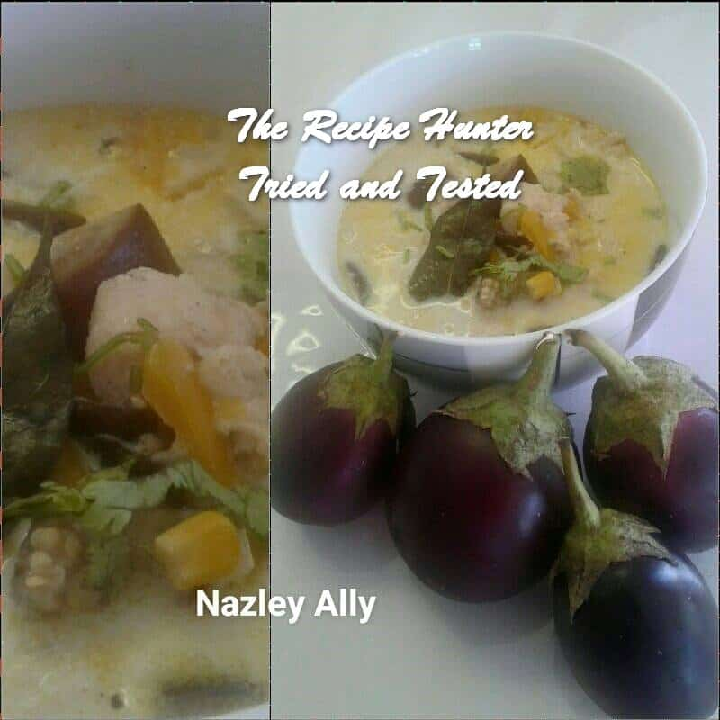 Nazley's Creamy Eggplant, Sweetcorn and Chicken Soup