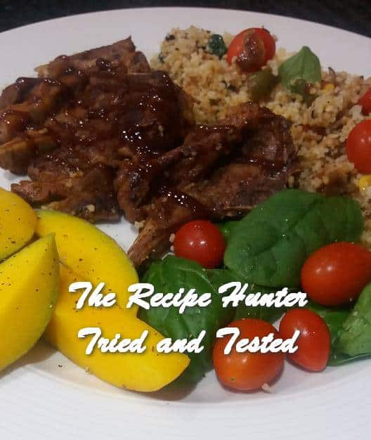 TRH Feriel's Briased Lamb Loin Chops with Veggies Cous Cous and Mango Salad