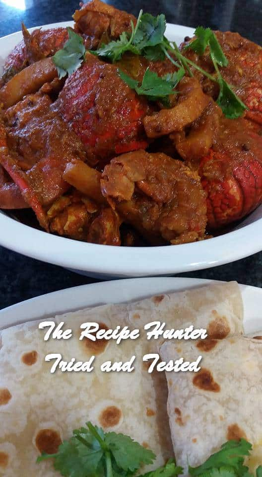 Feriel's Crayfish, Prawns and Calamari Curry with Indian Style Rotis