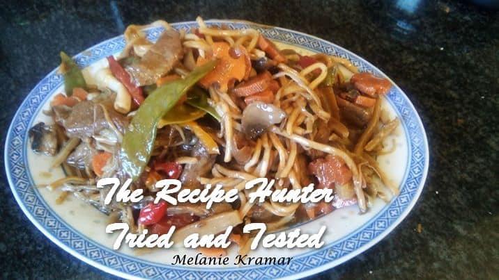 Melanie's Beef Chow Mein