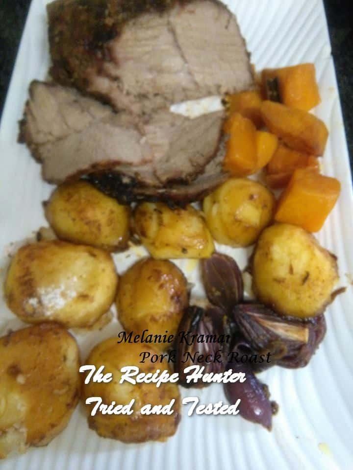 Melanie's Roast Pork Neck with Mustard and Fennel Rub