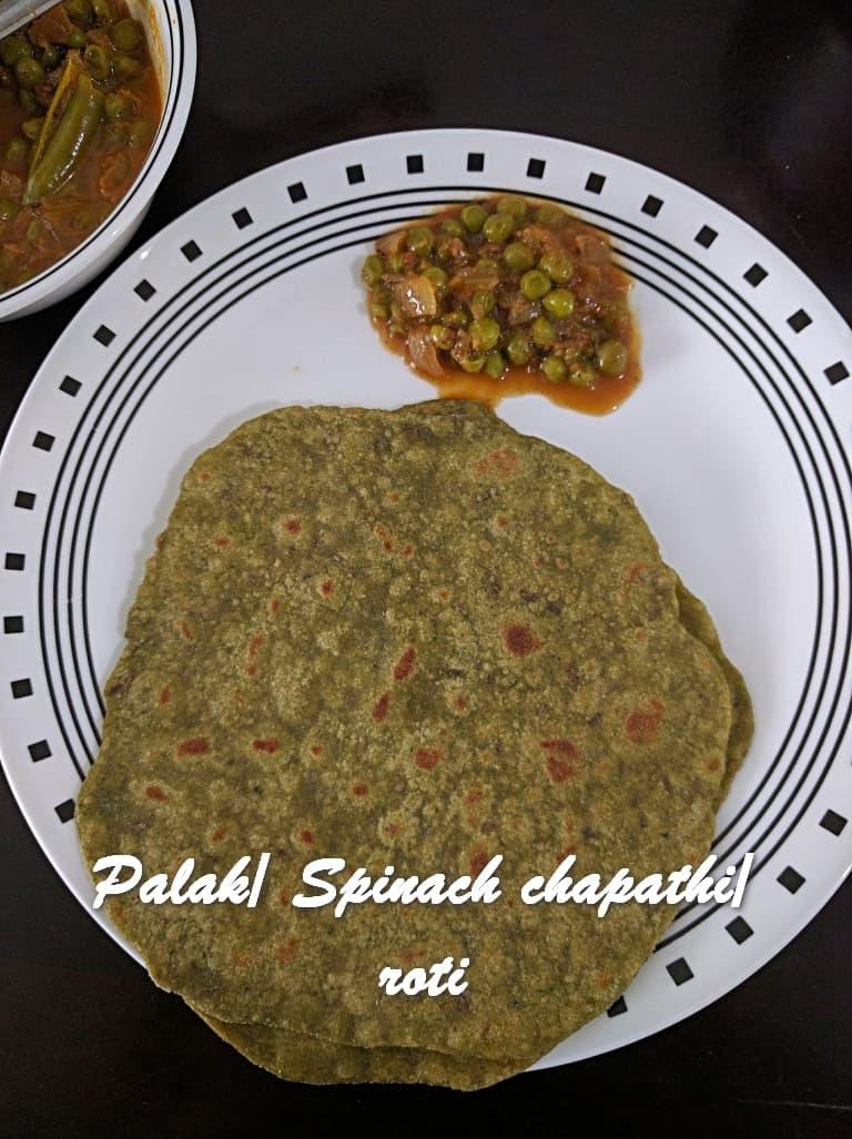 TRH Palak Spinach chapathi roti
