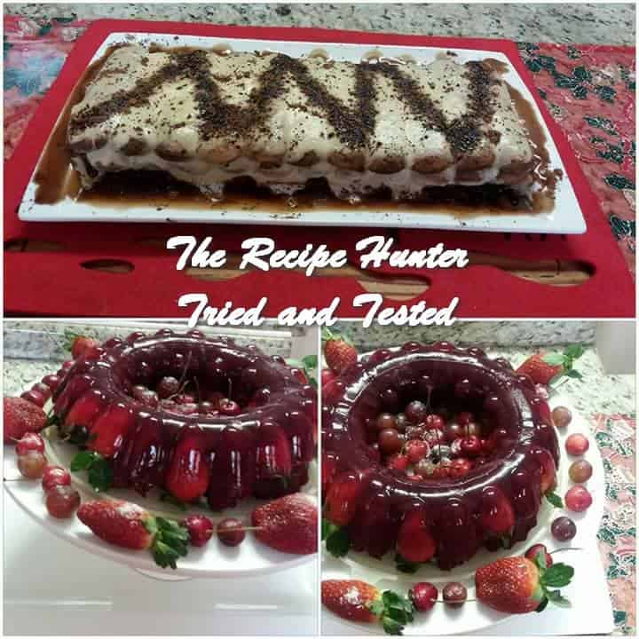 Sandy's Upside Down Red Velvet Cake Fruit Berry Trifle