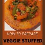 Prepare a stuffed veggie pumpkin