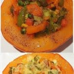 Stuffed veggie pumpkin with cheese