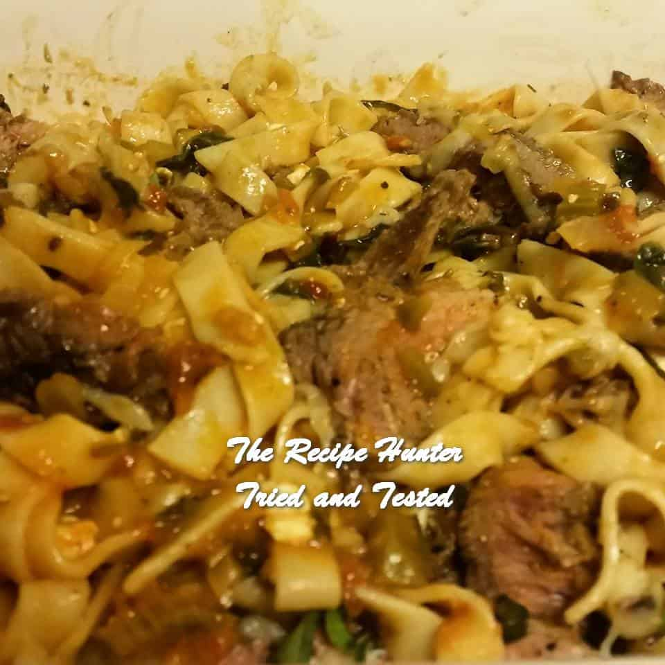 Gail's Beef Steak Pasta
