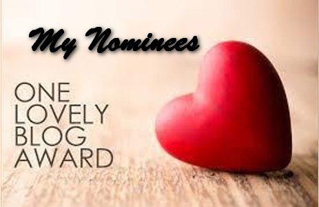 TRH One lovely blog award My Nominees