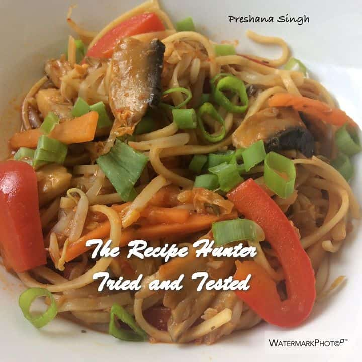 Preshana's Vegetable Hakka Noodles (Vegetable Chow Mein)
