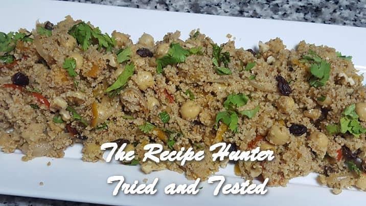 TRH Vashnee's Wholewheat cous cous with roasted veggies