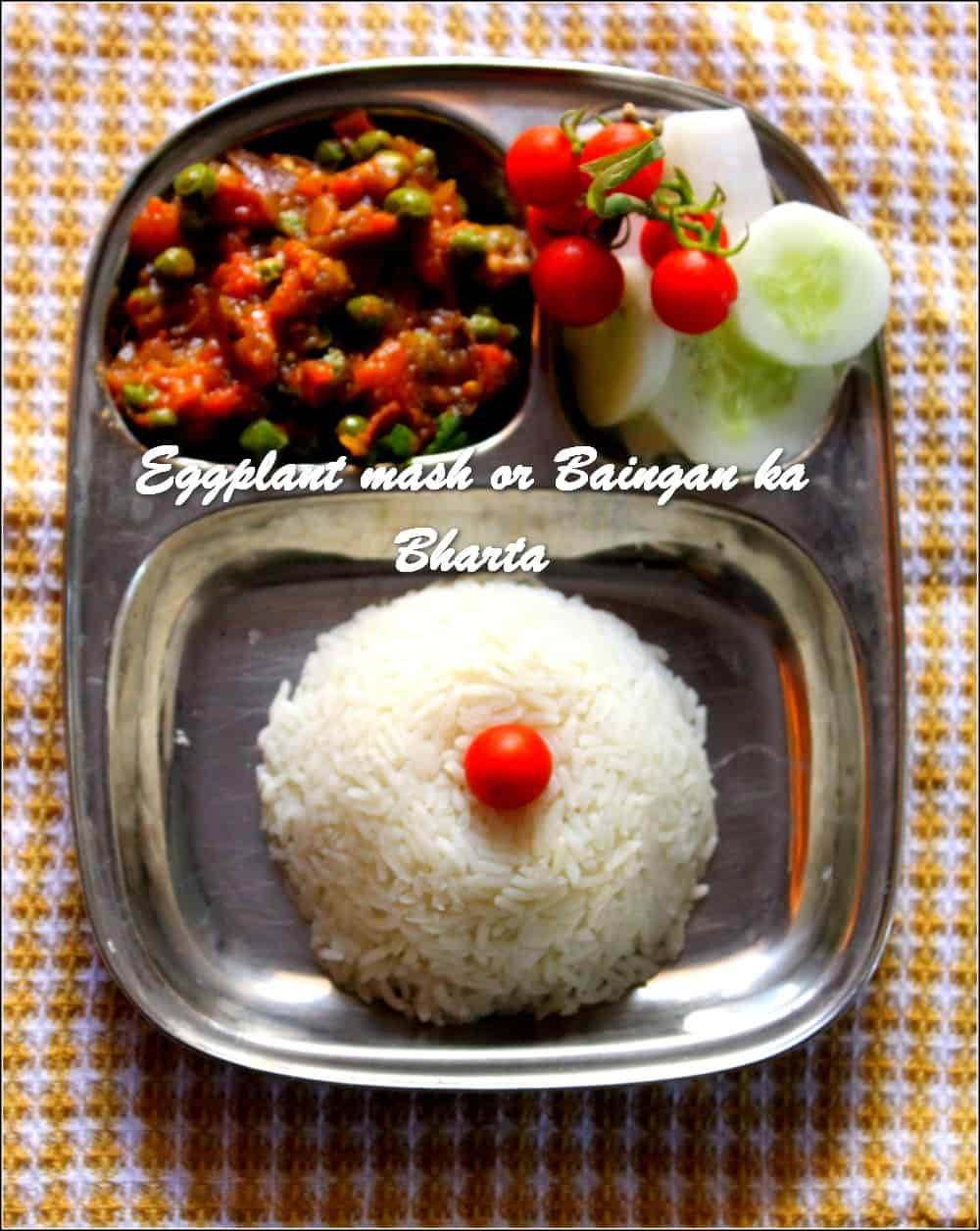 TRH Eggplant mash or Baingan ka Bharta