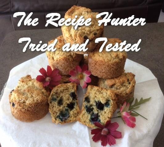 Es's Gluten Free Blueberry Oat Bran Muffins