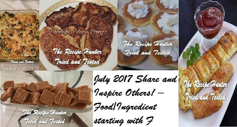 """July 2017 Share and Inspire Others! –  """"F"""""""