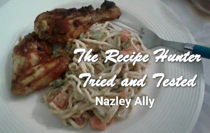 Nazley's Creamy Chinese Noodles with Tangy Spicey Chicken