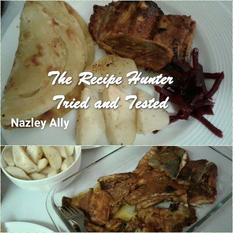 TRH Nazley's Fried snoek with potatoes and garlic naan