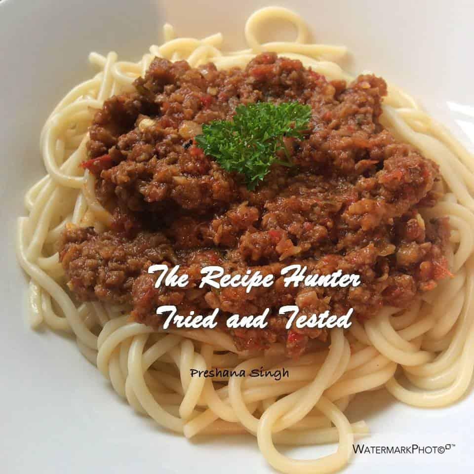Preshana's Spaghetti Bolognese