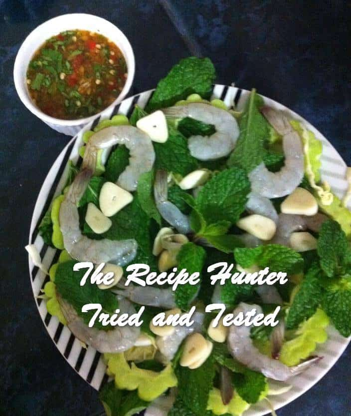 Carol's Raw Prawns with Thai Chillies
