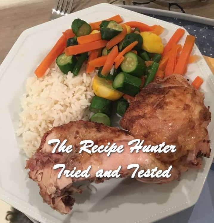 Hannah Simple Grilled Chicken, vegetables and rice2