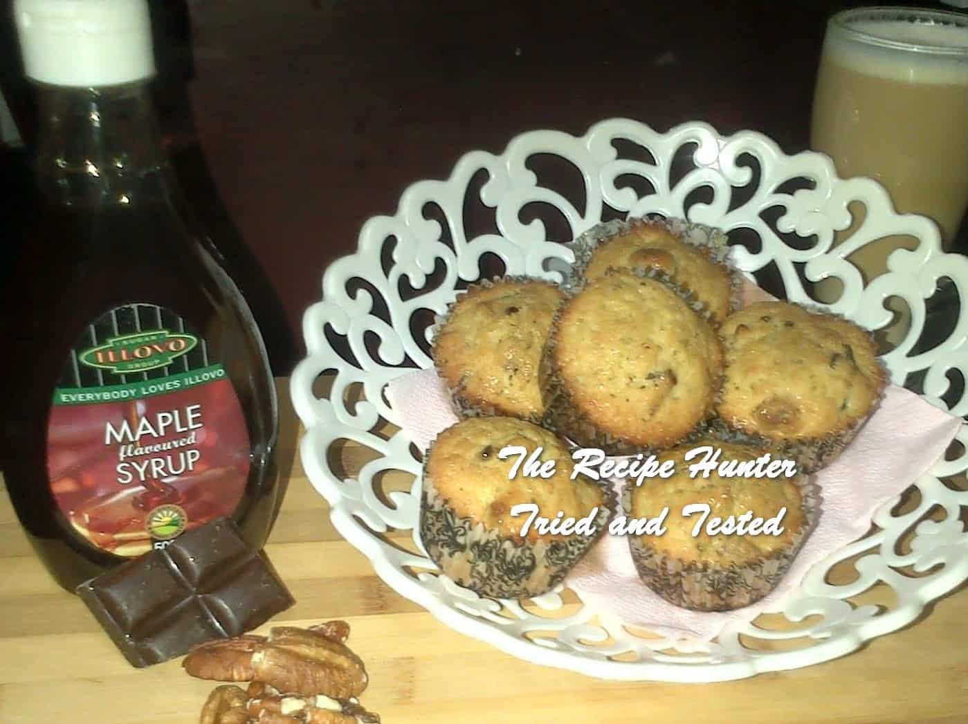 Melenie's Chocolate Maple Pecan Muffins