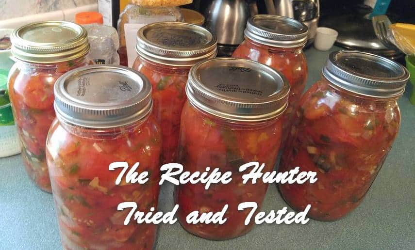 Wally's Homemade Diced, Seasoned and Herbed Tomato Relish