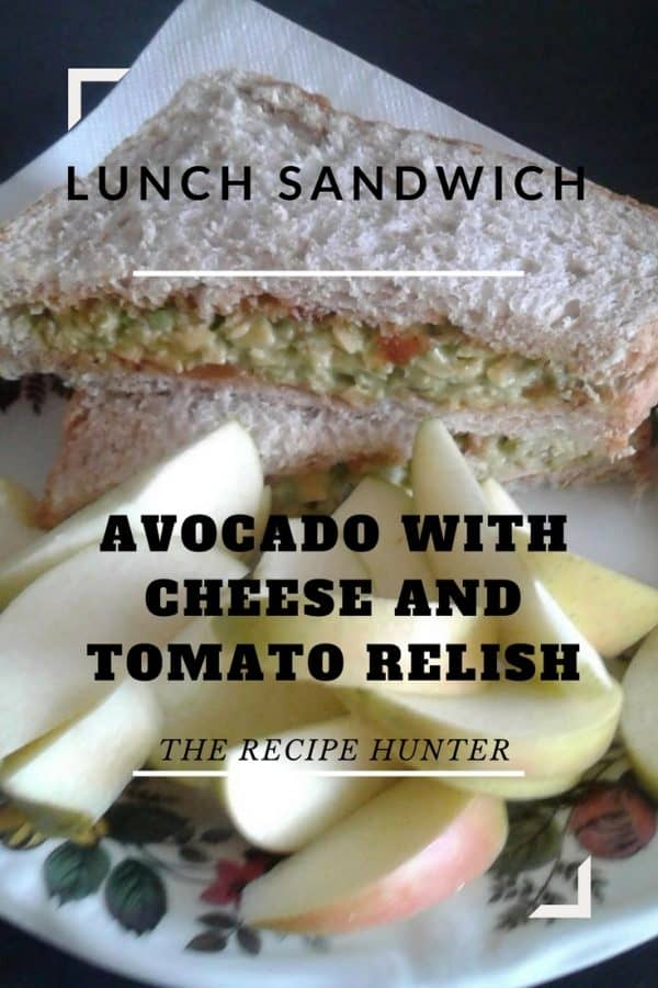 Dee's Avocado with Cheese and Tomato Relish Sandwich