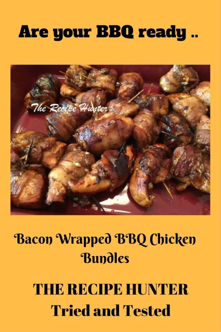 Bacon Wrapped BBQ Chicken Bundles