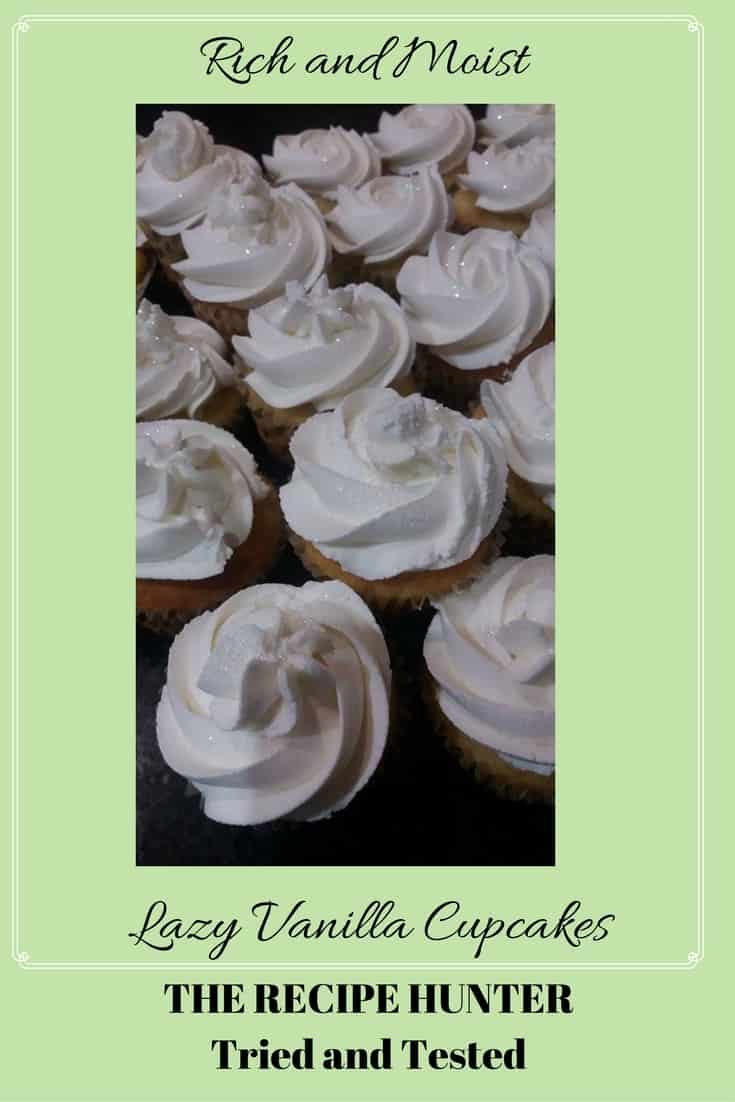 Feriel's Lazy Vanilla Cupcakes