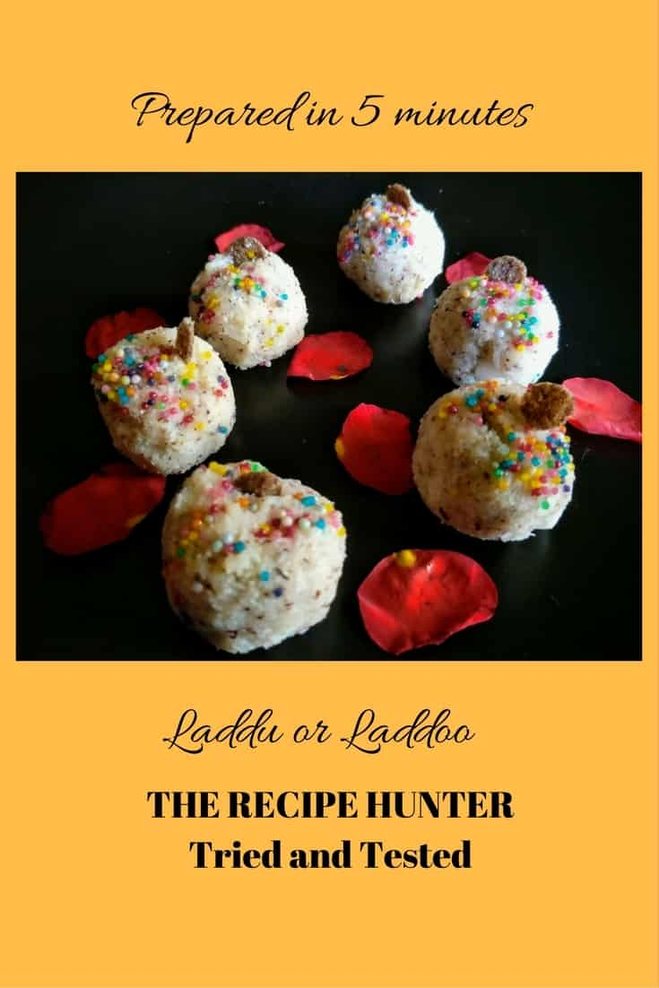 Moumita's Five Minutes Laddoo