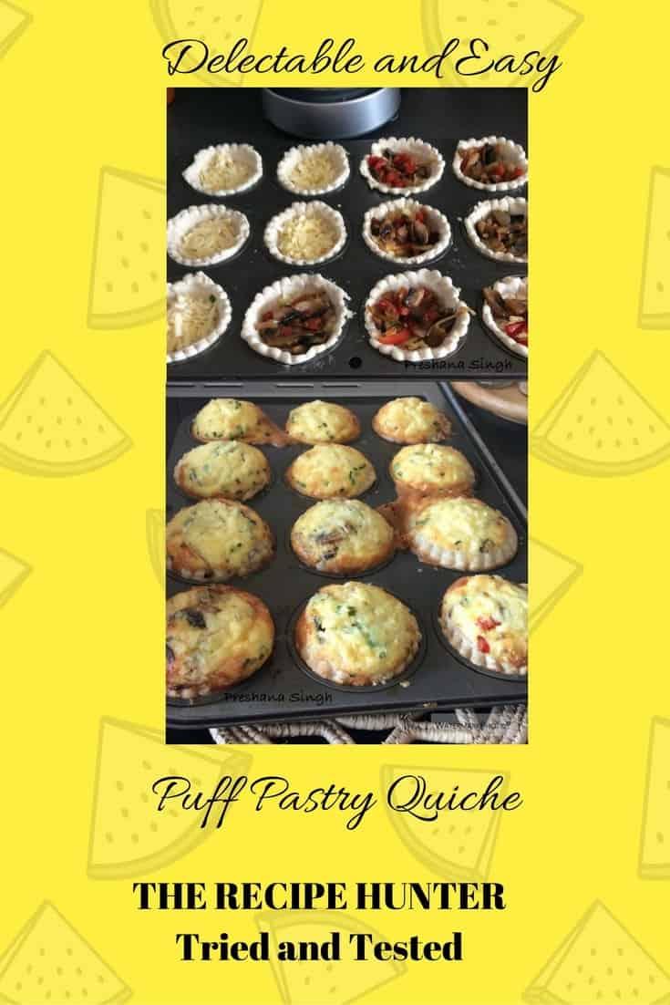 Preshana's Puff Pastry Quiche