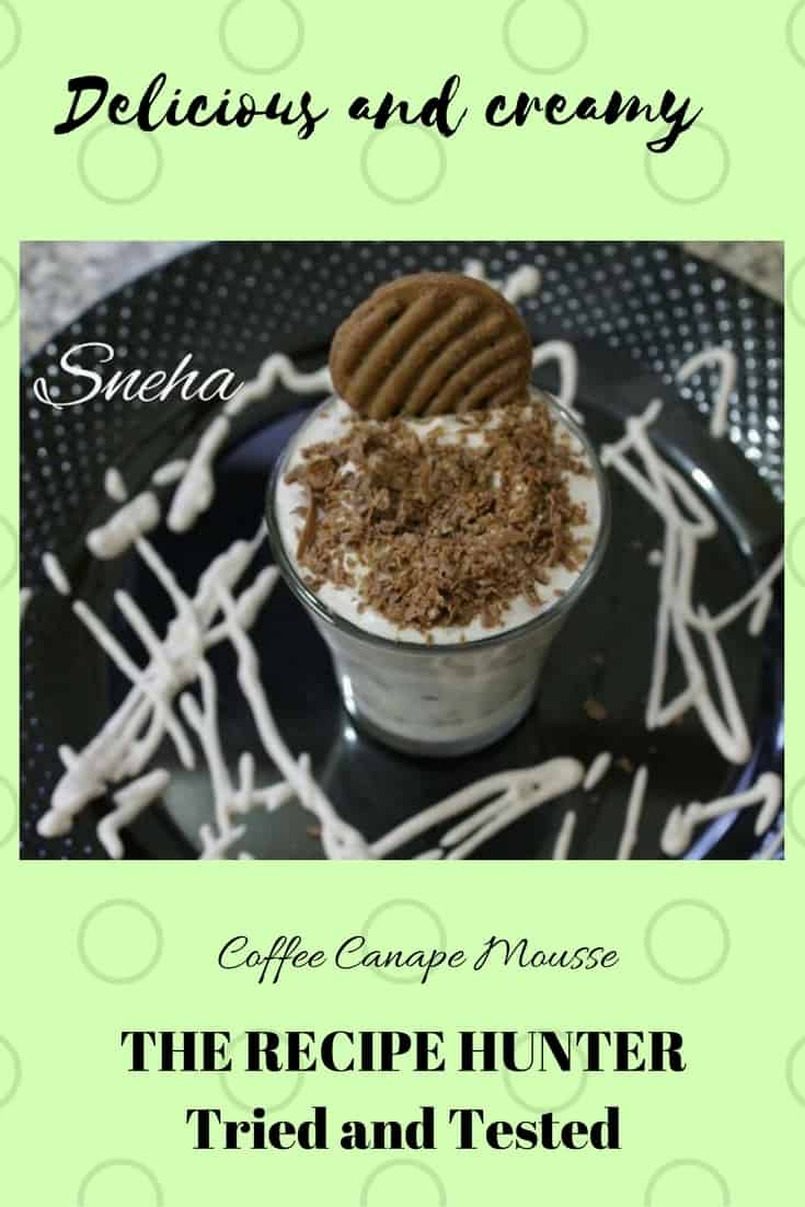 Sneha's Coffee Canapee Mousse
