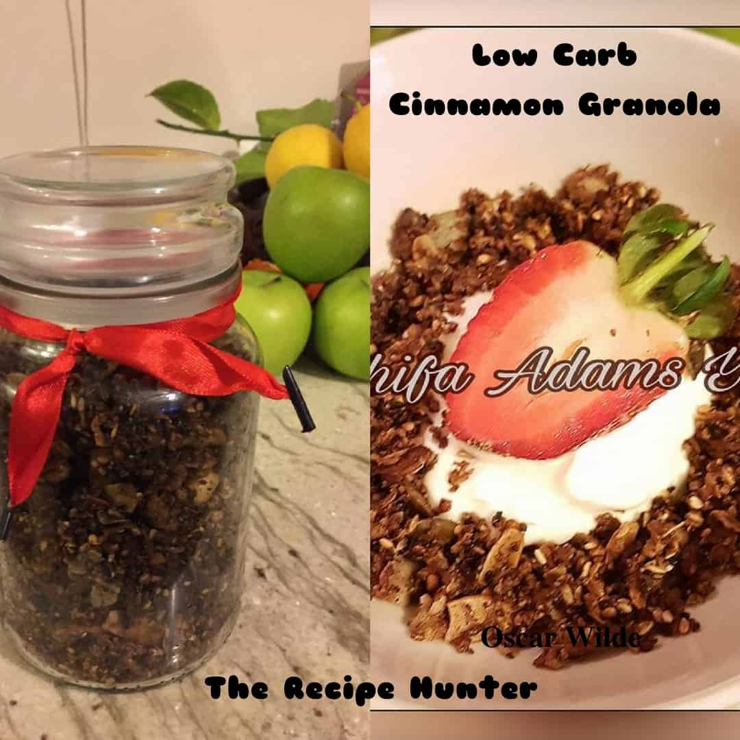 Caashifa's Low Carb Cinnamon Granola