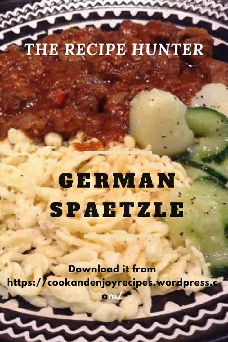 Gail's German Spaetzle