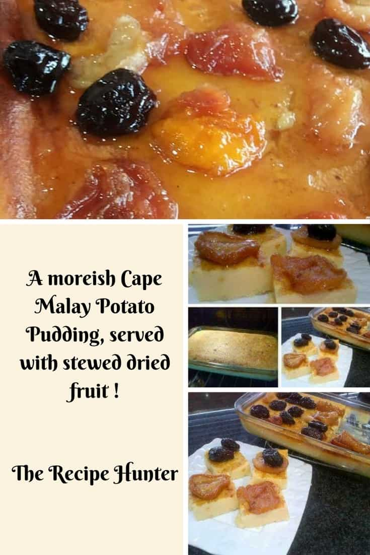 Feriel's Potato Pudding with stewed fruit