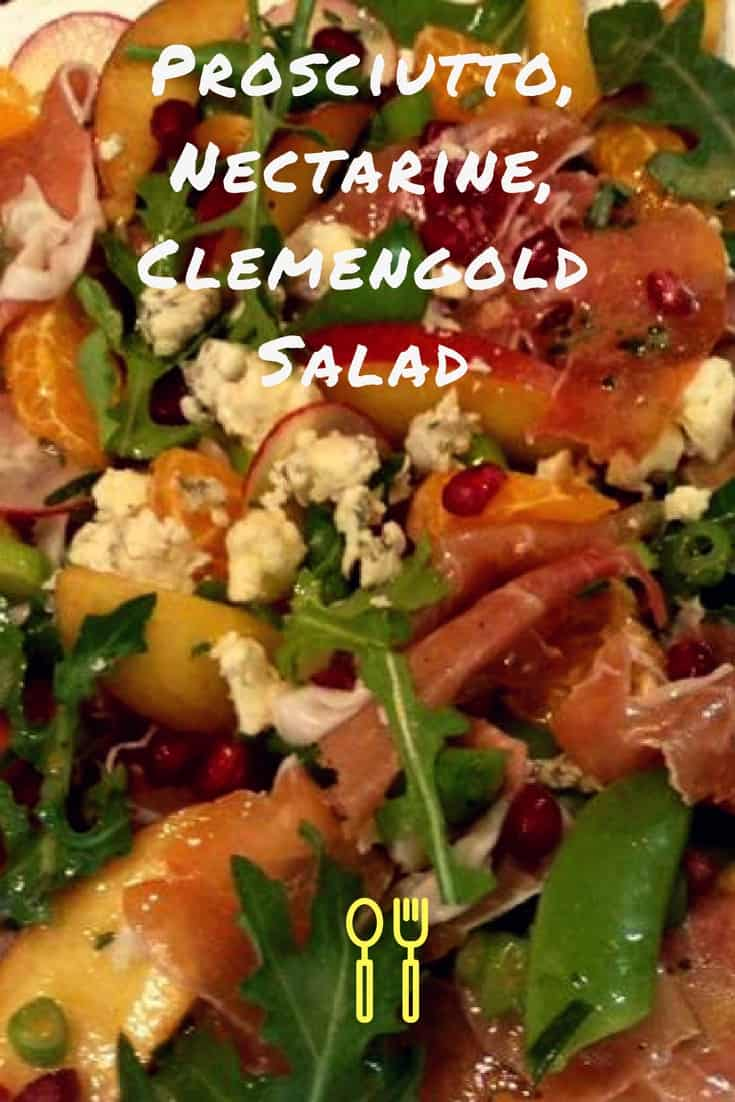 Prosciutto, Nectarine, Clemengold Salad